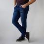Calça Skinny Masculina Básica Jeans Escuro Strech Anticorpus