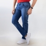 Calça Slim Jeans Azul Tradicional Masculina Anticorpus