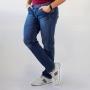 Calça Slim Jeans Escuro Masculina Algodão Elastano Anticorpus