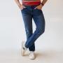 Calça Slim Jeans Escuro Masculina Anticorpus