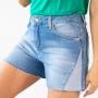 Short Jeans Alto Feminino Lateral Invertida Anticorpus
