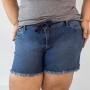 Short Plus Size Jeans Feminino Barra Desfiada Anticorpus