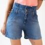 Shorts Jeans Mom Clochard Cintura Alta Feminino Anticorpus