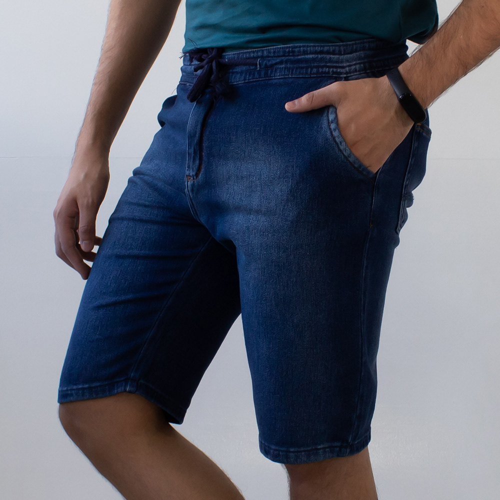 Bermuda Jeans Jogger Masculina Amarril Anticorpus