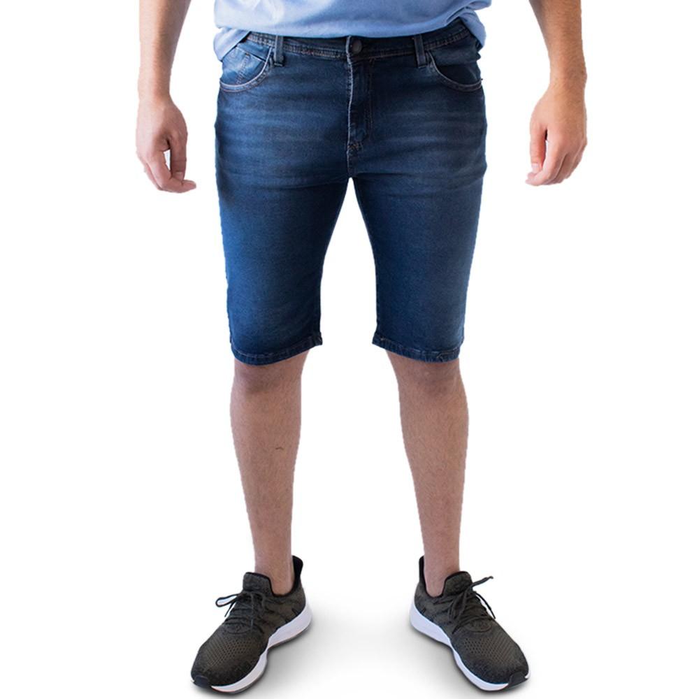 Bermuda Jeans Masculina Skinny Forro Elastano Anticorpus