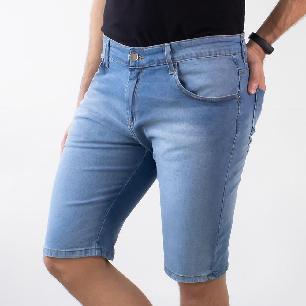 Bermuda Jeans Skinny Masculina Algodão Elastano Anticorpus
