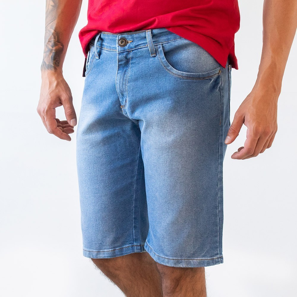 Bermuda Jeans Slim Masculina Anticorpus