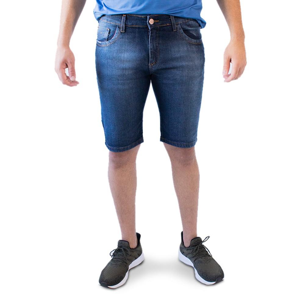 Bermuda Masculina Jeans Skinny Forro Anticorpus