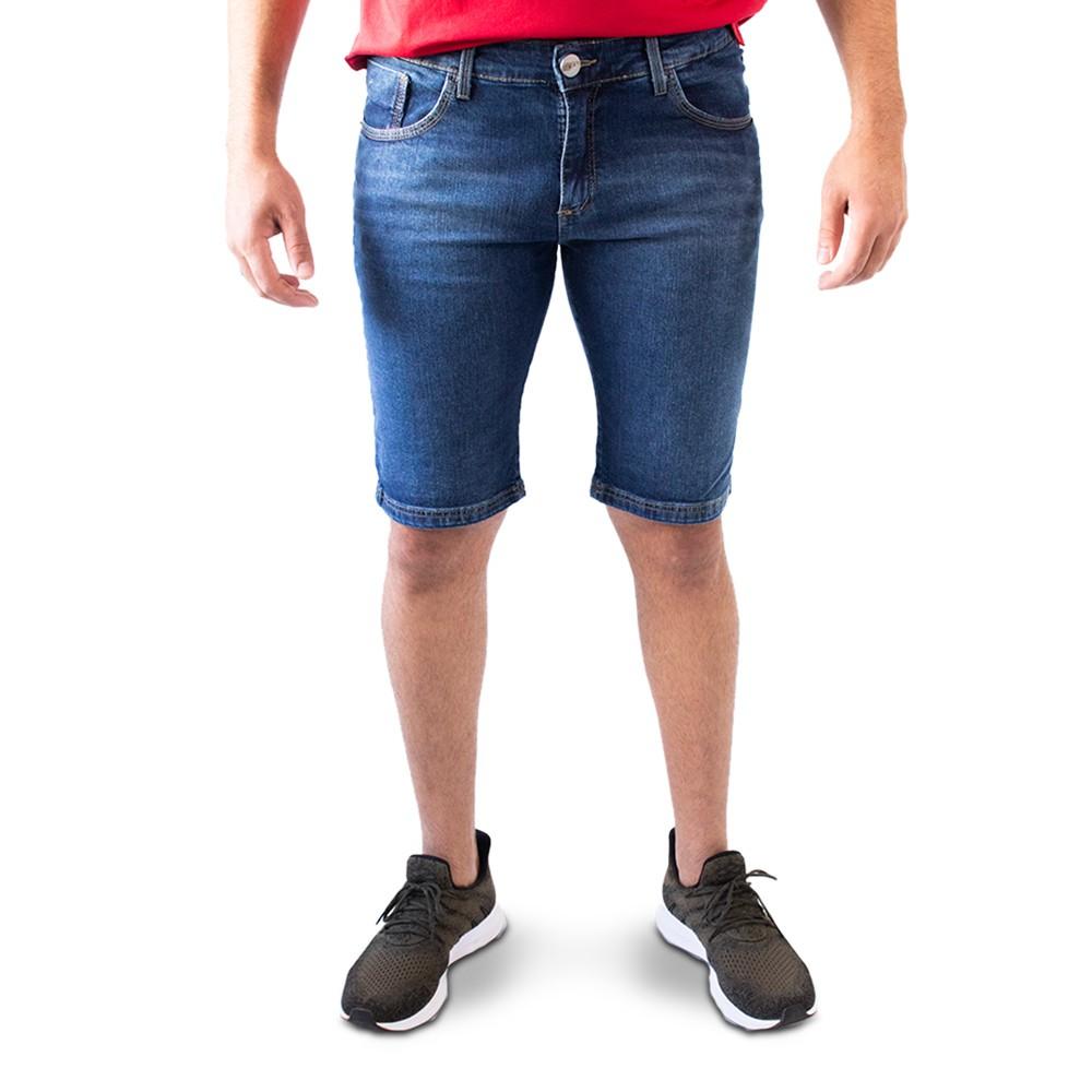 Bermuda Masculina Jeans Skinny Forro Elastano Anticorpus