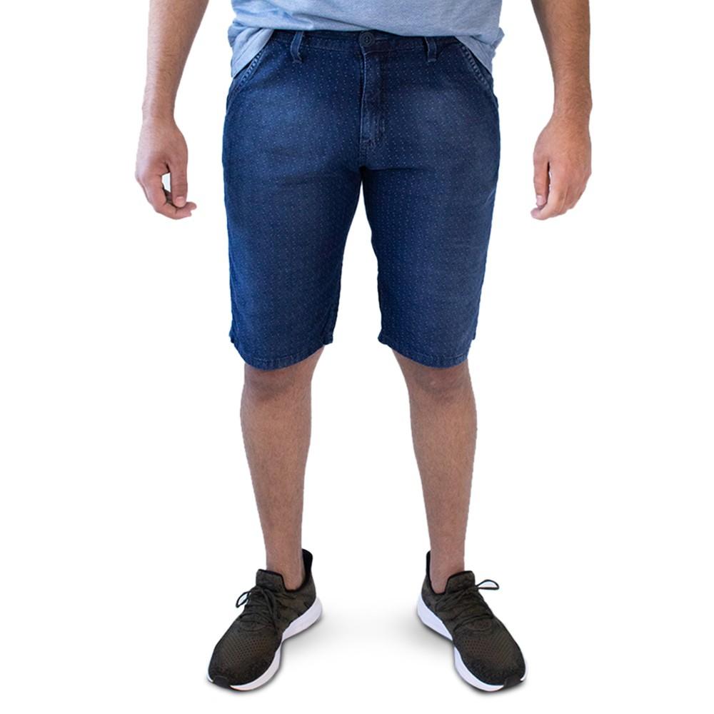 Bermuda Masculina Jeans Slim Poá Algodão Anticorpus