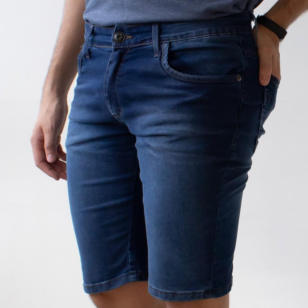 Bermuda Skinny Jeans Escuro Masculina Anticorpus