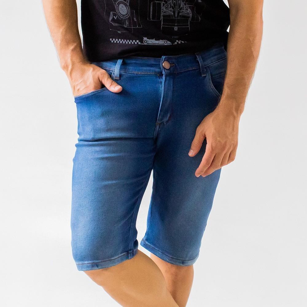 Bermuda Skinny Jeans Masculina com Viscose e Elastano Anticorpus