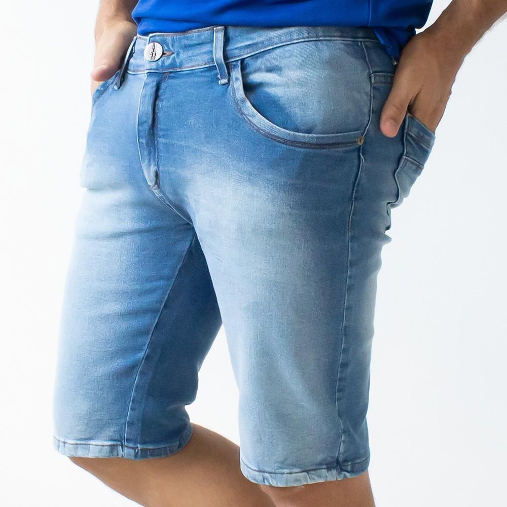 Bermuda Skinny Masculina Jeans Amaciado Elastano Anticorpus