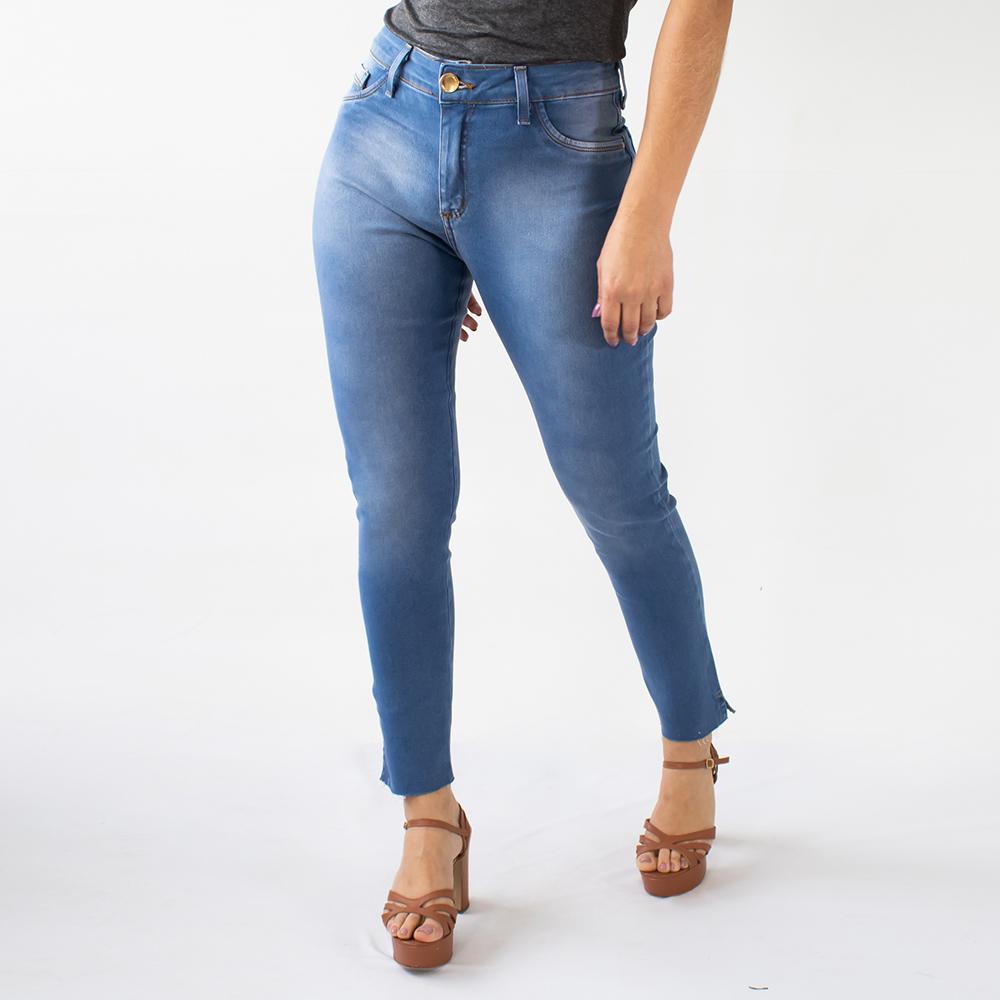 Calça Cropped Jeans Feminina Cintura Alta Strech Anticorpus