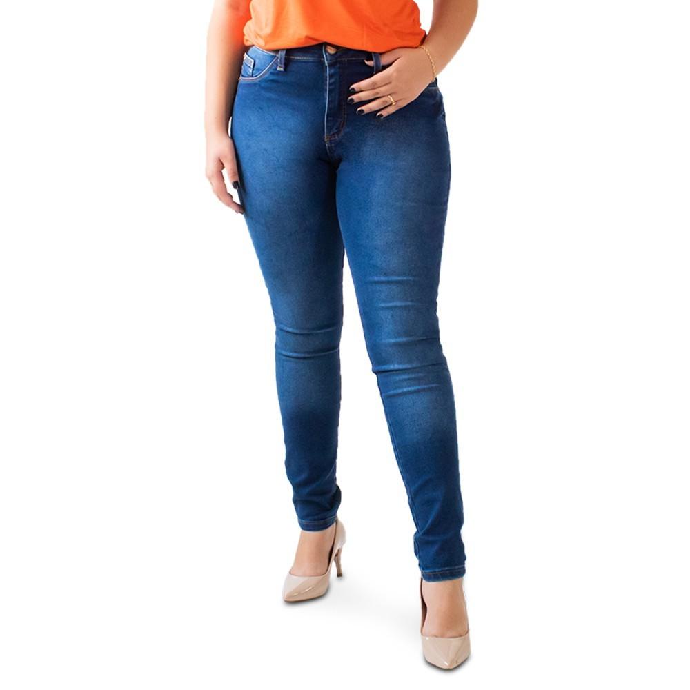 Calça Feminina Skinny Jeans Cintura Alta Anticorpus