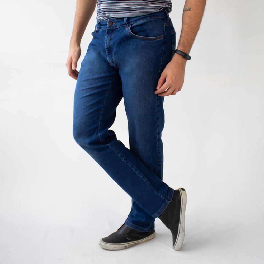 Calça Jeans Básica Masculina Slim Jeans Escuro Anticorpus