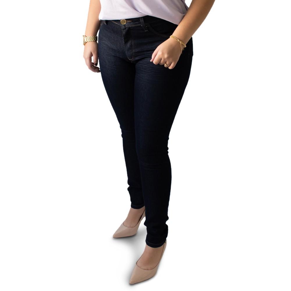 Calça Jeans Escuro Feminina Skinny Cintura Média Anticorpus