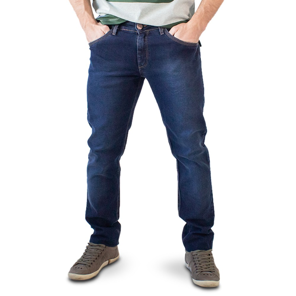 Calça Jeans Escuro Masculina Skinny Anticorpus
