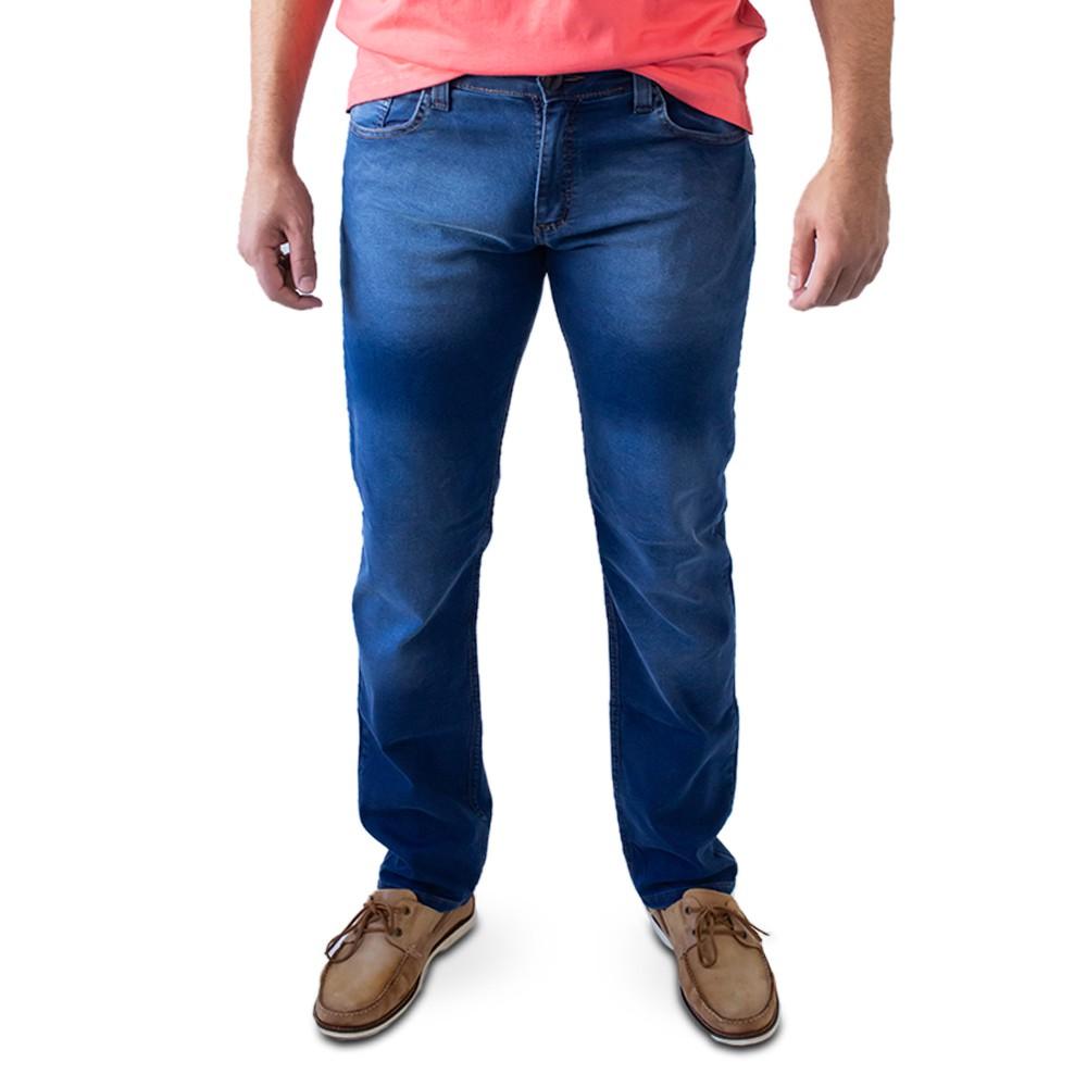 Calça Jeans Escuro Masculina Slim Elastano Anticorpus