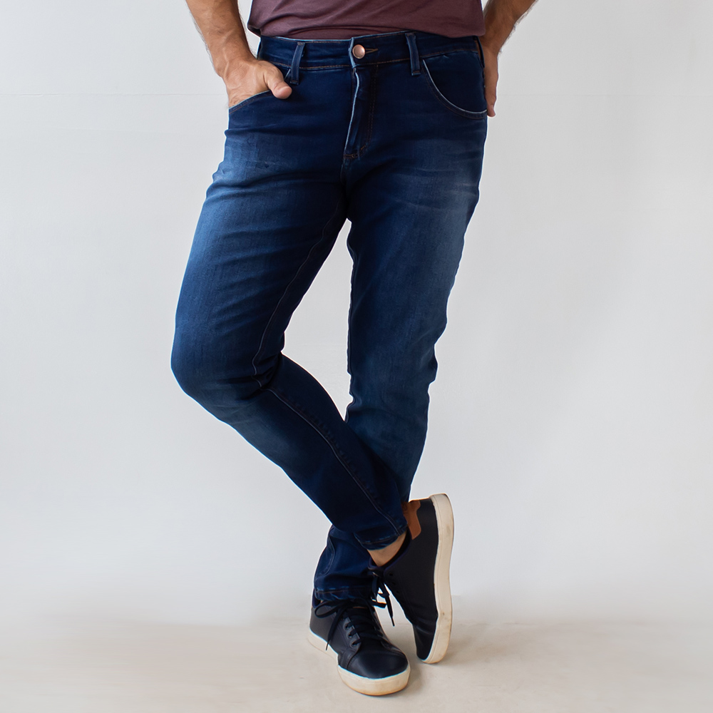 Calça Jeans Escuro Super Skinny Masculina Stretch Anticorpus