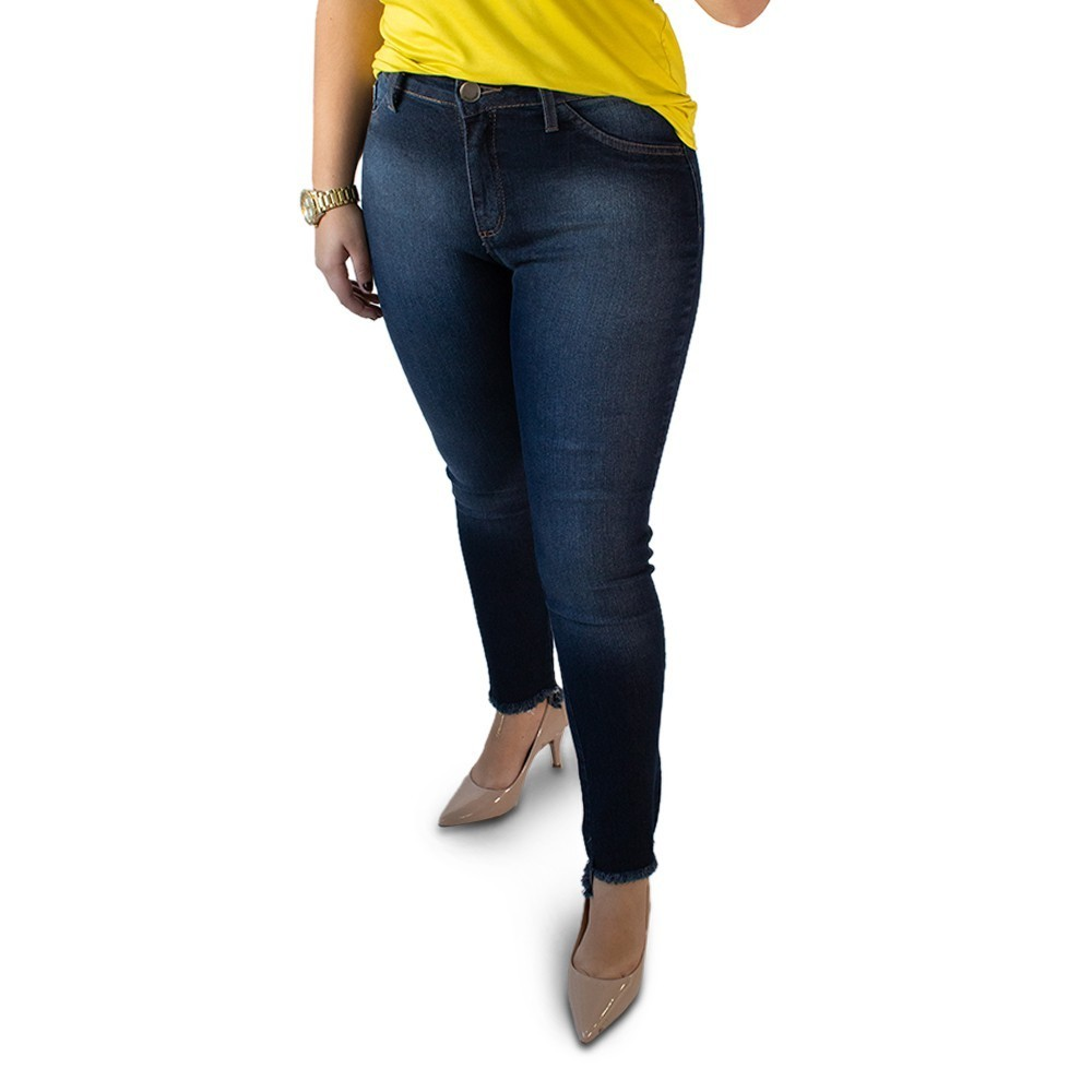 Calça Jeans Feminina Cropped Cintura Alta Elastano Anticorpus