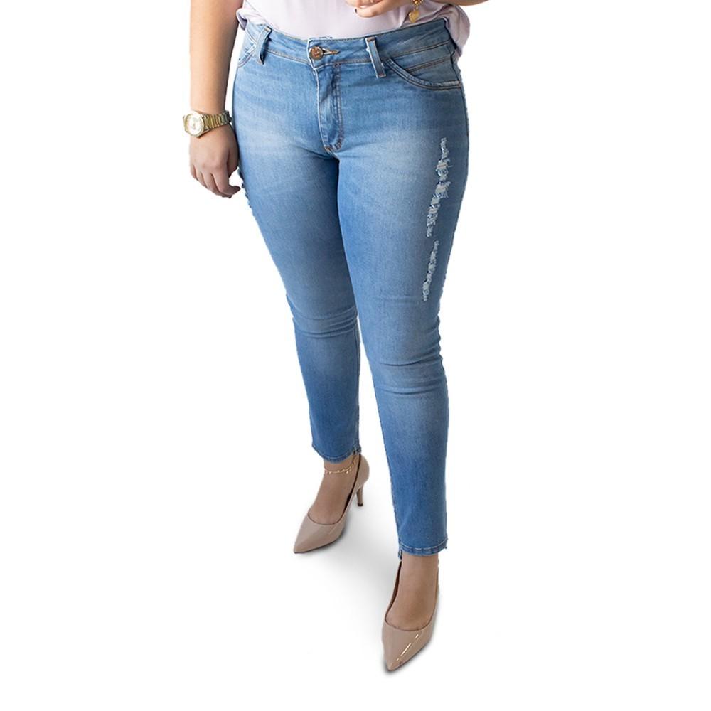 Calça Jeans Feminina Cropped Cintura Media Elastano Anticorpus
