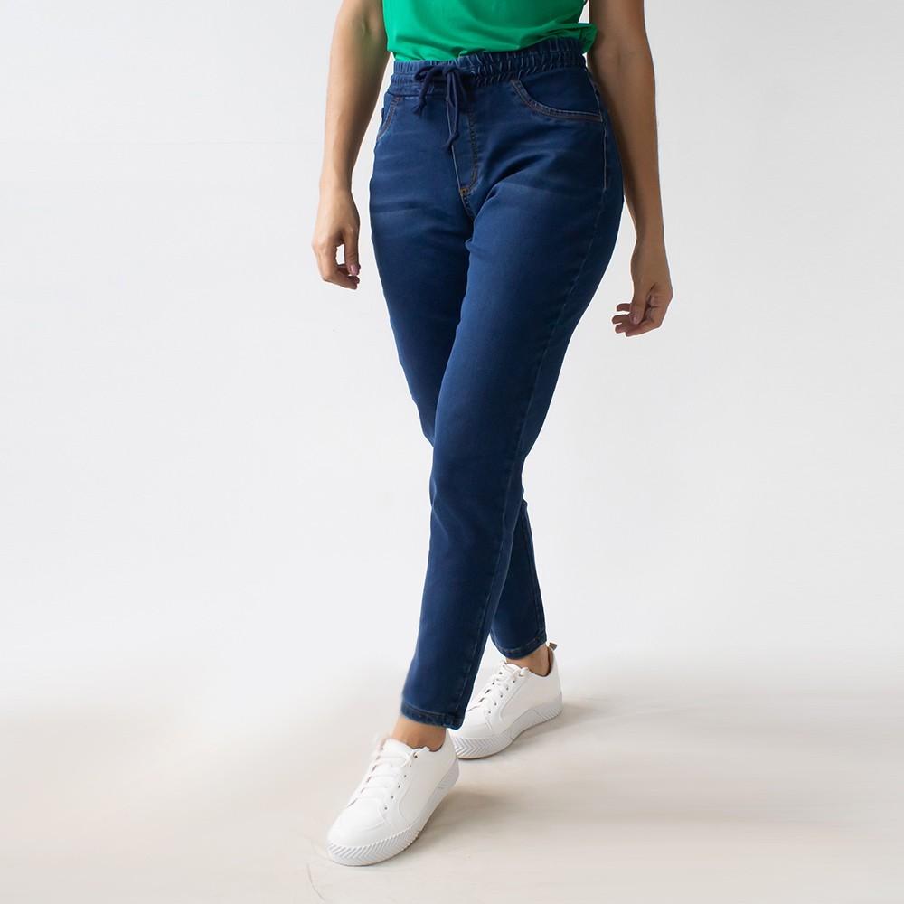 Calça Jeans Jogger Feminina Azul Escuro Anticorpus