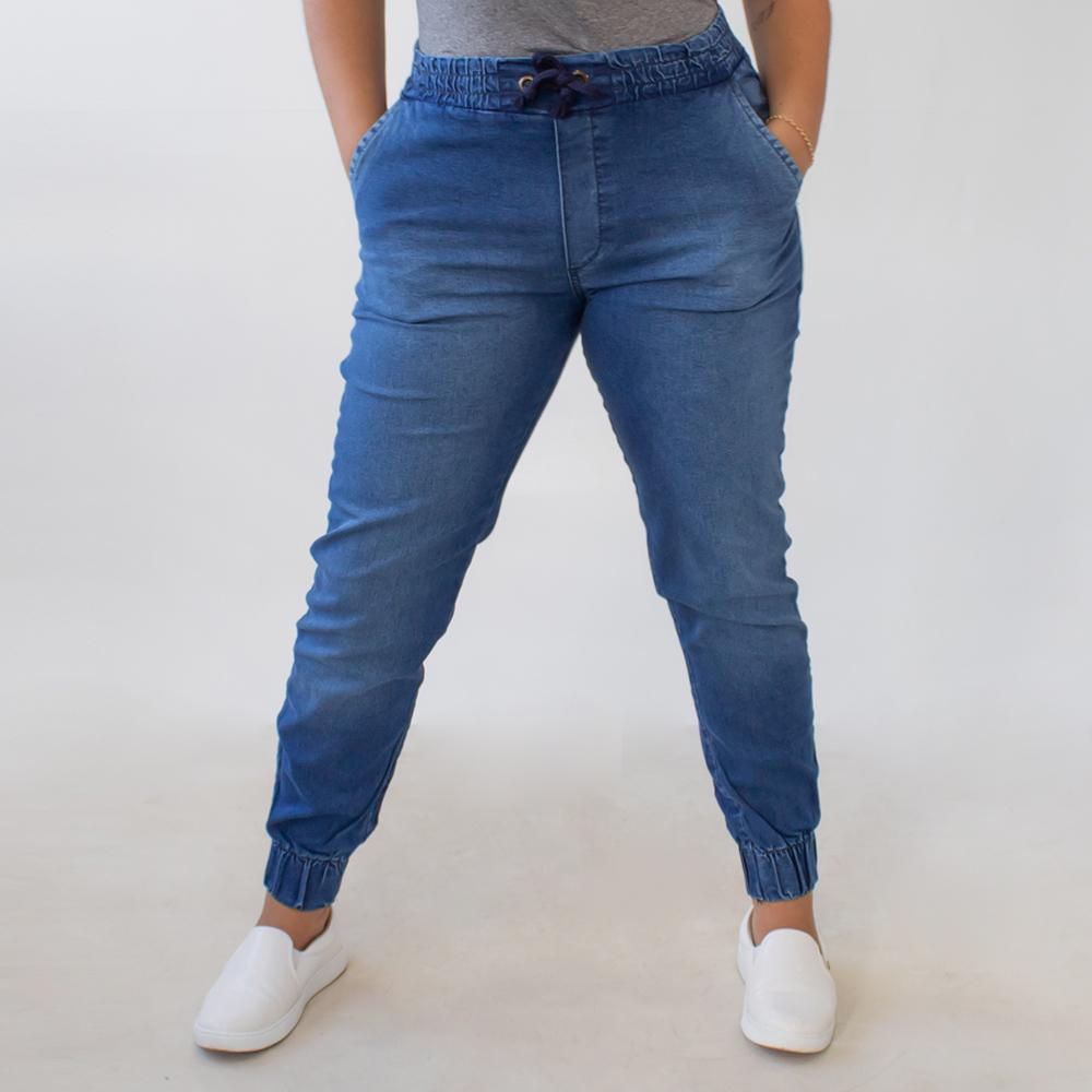 Calça Jeans Jogger Plus Size Feminina Alta Amarril Anticorpus