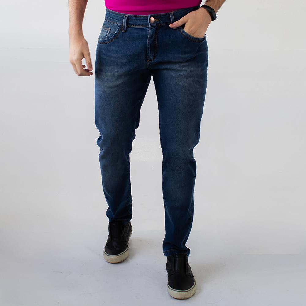 Calça Jeans Masculina Skinny Azul Amaciada Elastano Anticorpus