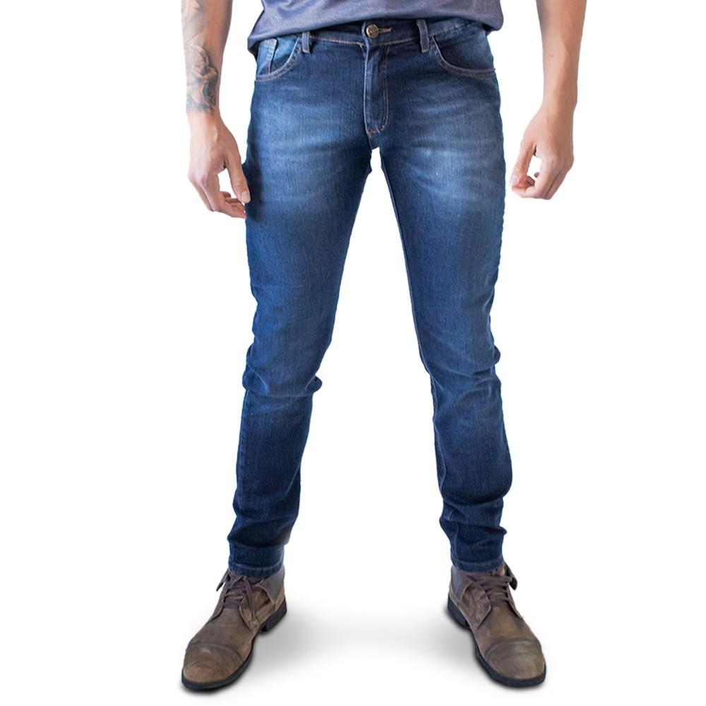 Calça Jeans Masculina Skinny Escuro Elastano Anticorpus