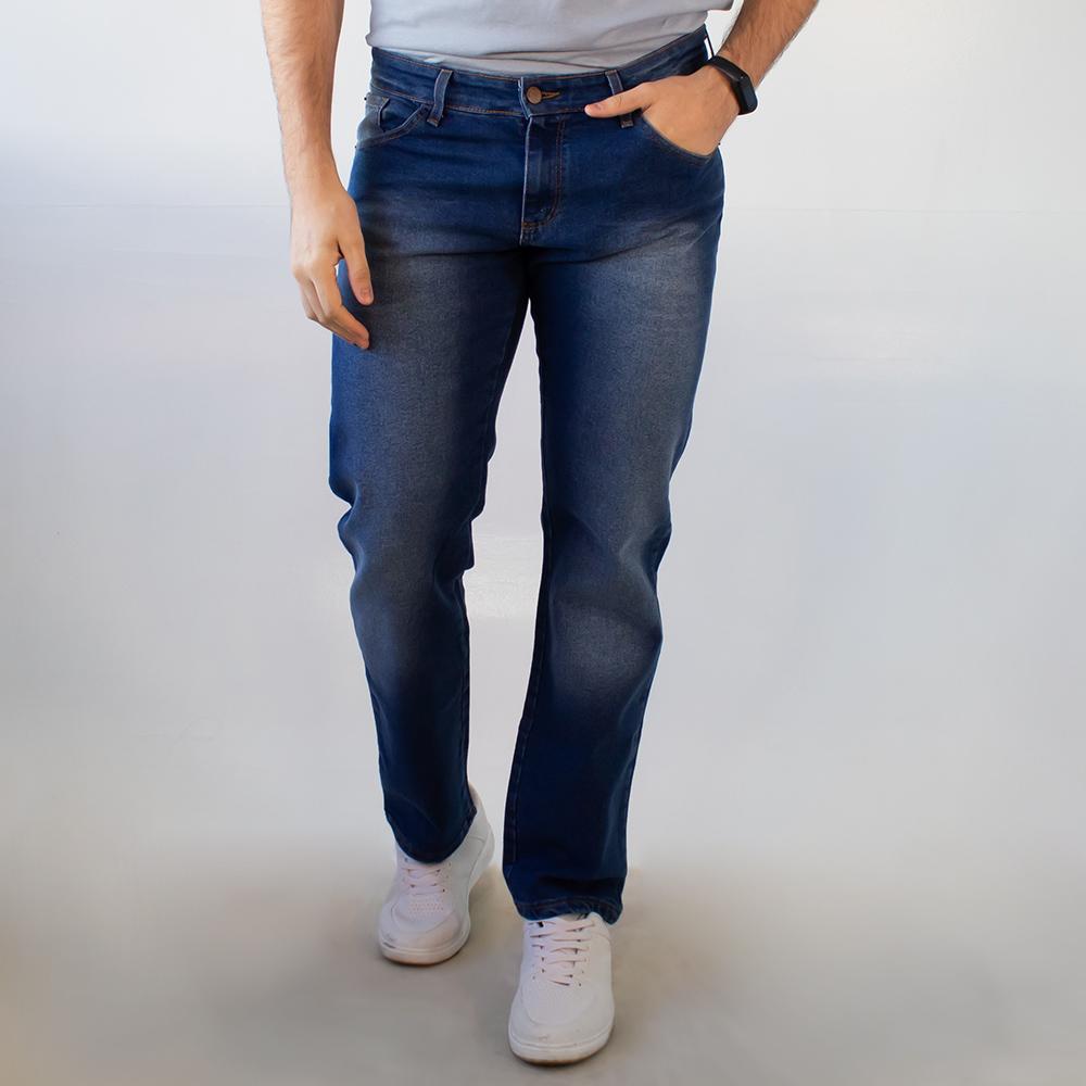 Calça Jeans Masculina Slim Escura Tradicional Anticorpus
