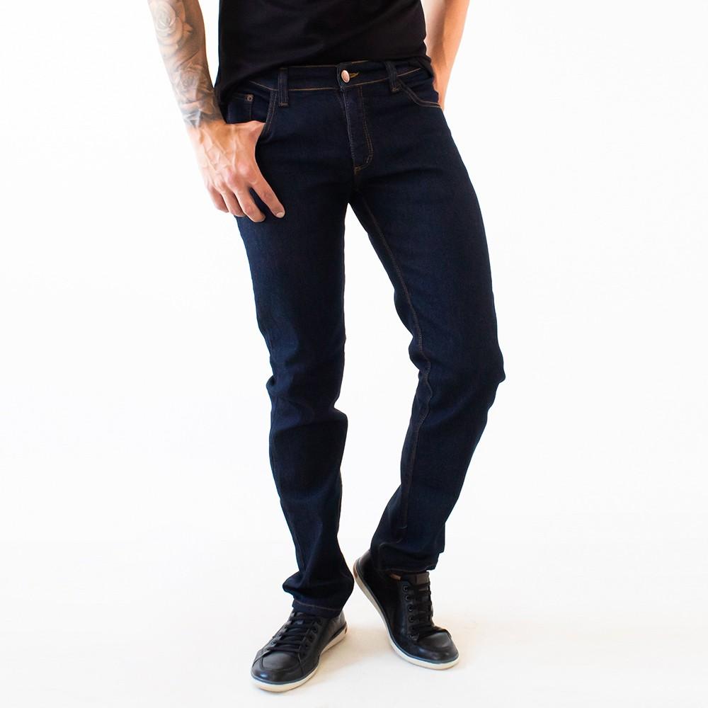 Calça Jeans Masculina Slim Jeans Escuro Elastano Anticorpus