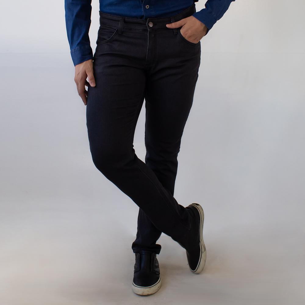 Calça Jeans Preto Skinny Masculina Anticorpus