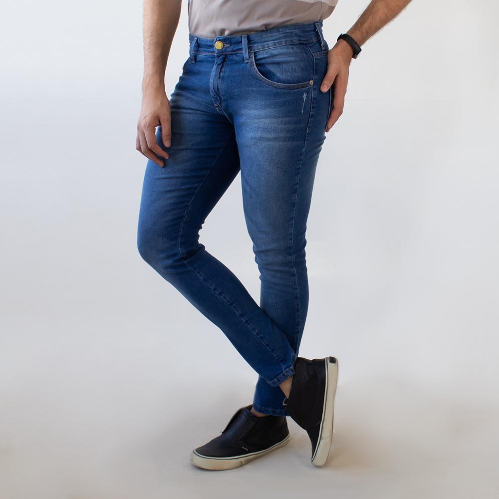 Calça Jeans Skinny Masculina Azul Elastano Anticorpus