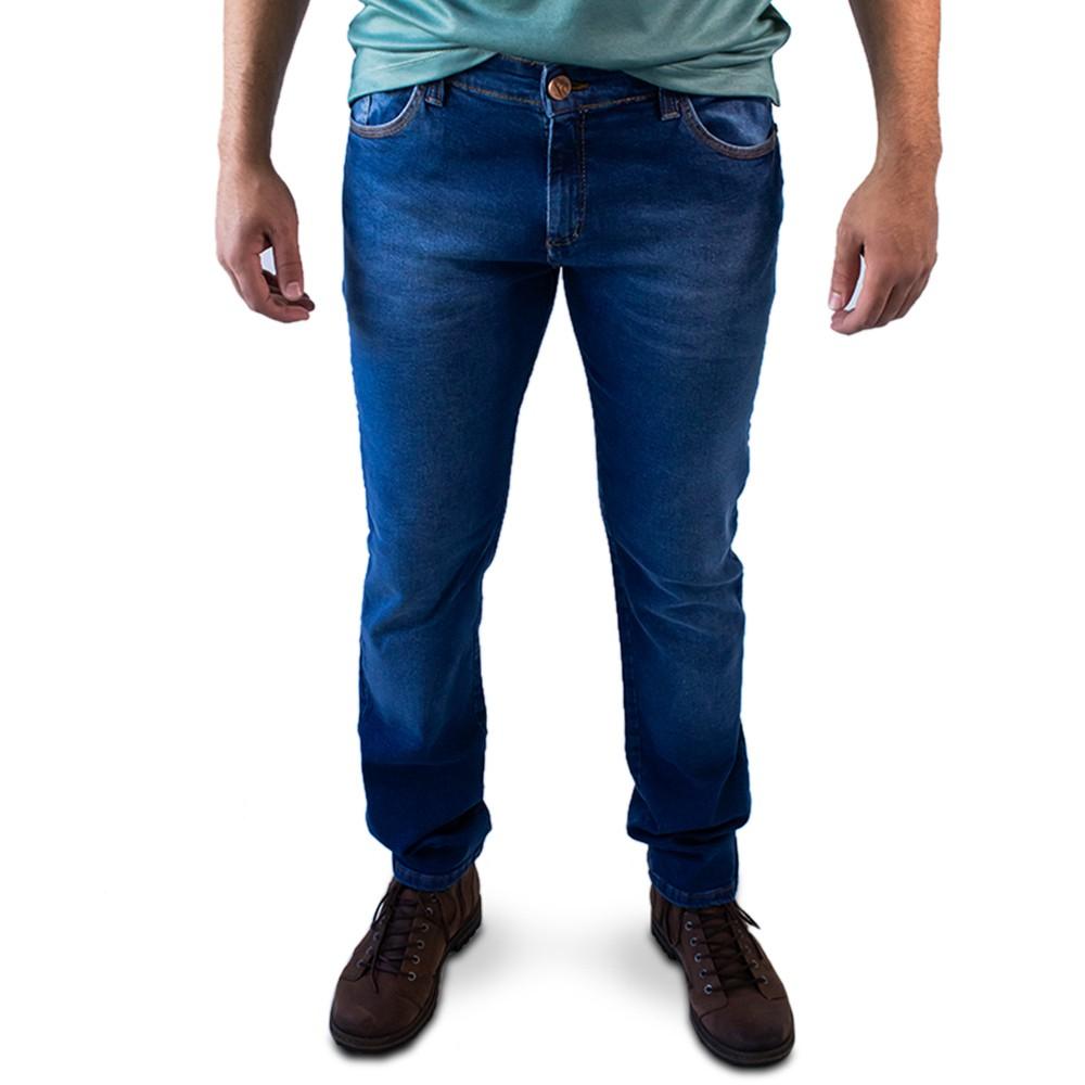 Calça Jeans Slim Masculina Algodão Elastano Forro Anticorpus