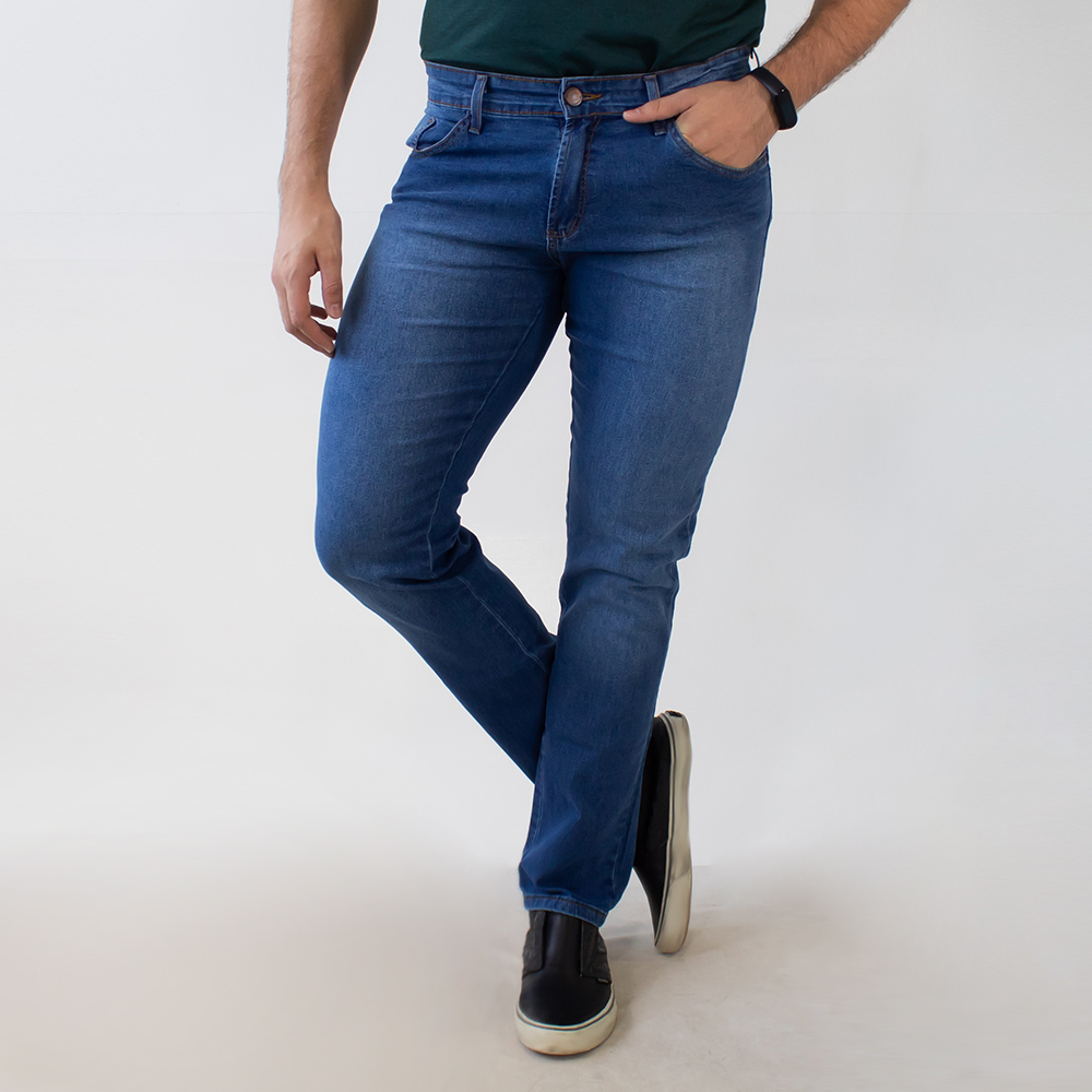 Calça Jeans Slim Masculina Básica Anticorpus