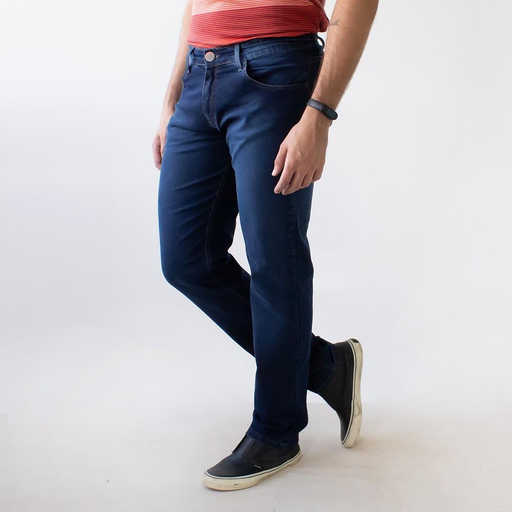Calça Jeans Slim Masculina Escura Elastano Anticorpus