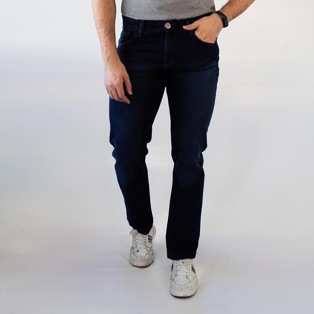 Calça Jeans Slim Strech Masculina Azul Noite Anticorpus