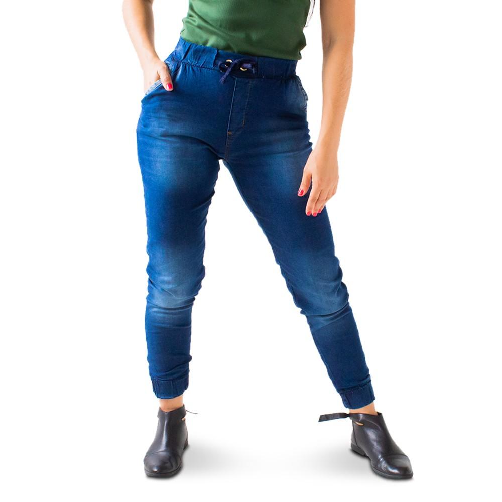 Calça Jogger Feminina Jeans Escuro Anticorpus