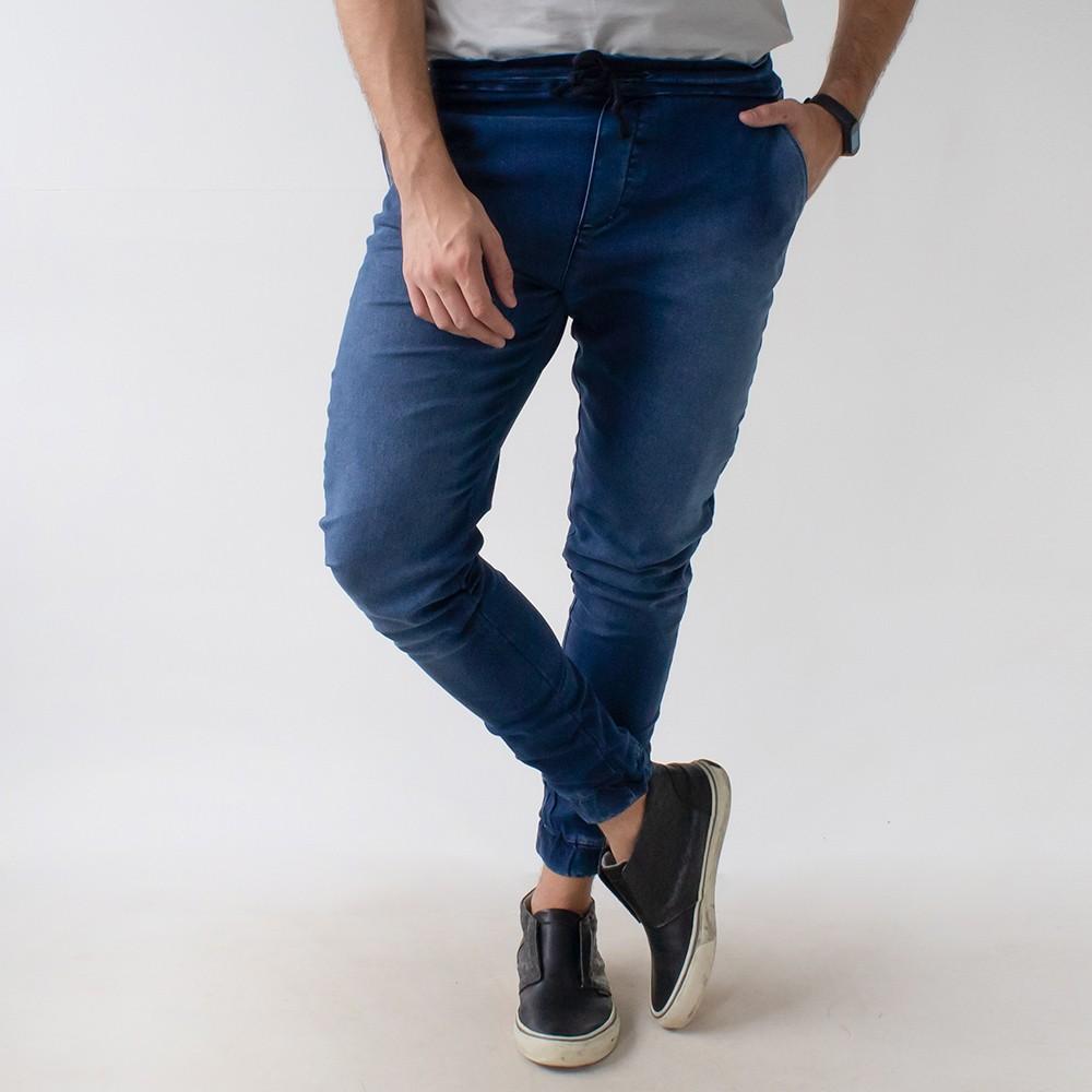 Calça Jogger Jeans Escuro Masculino Anticorpus