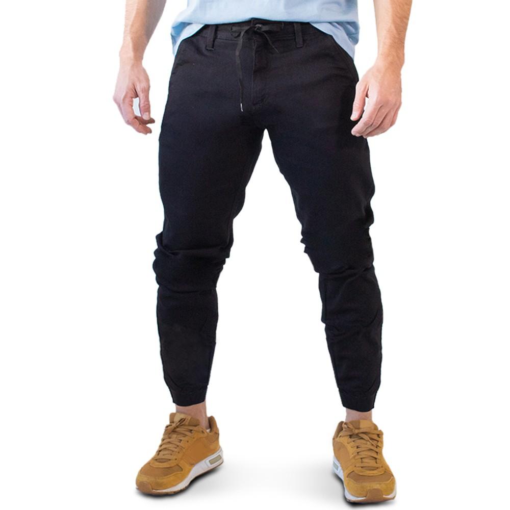 Calça Jogger Jeans Preto Masculina Elastano Anticorpus
