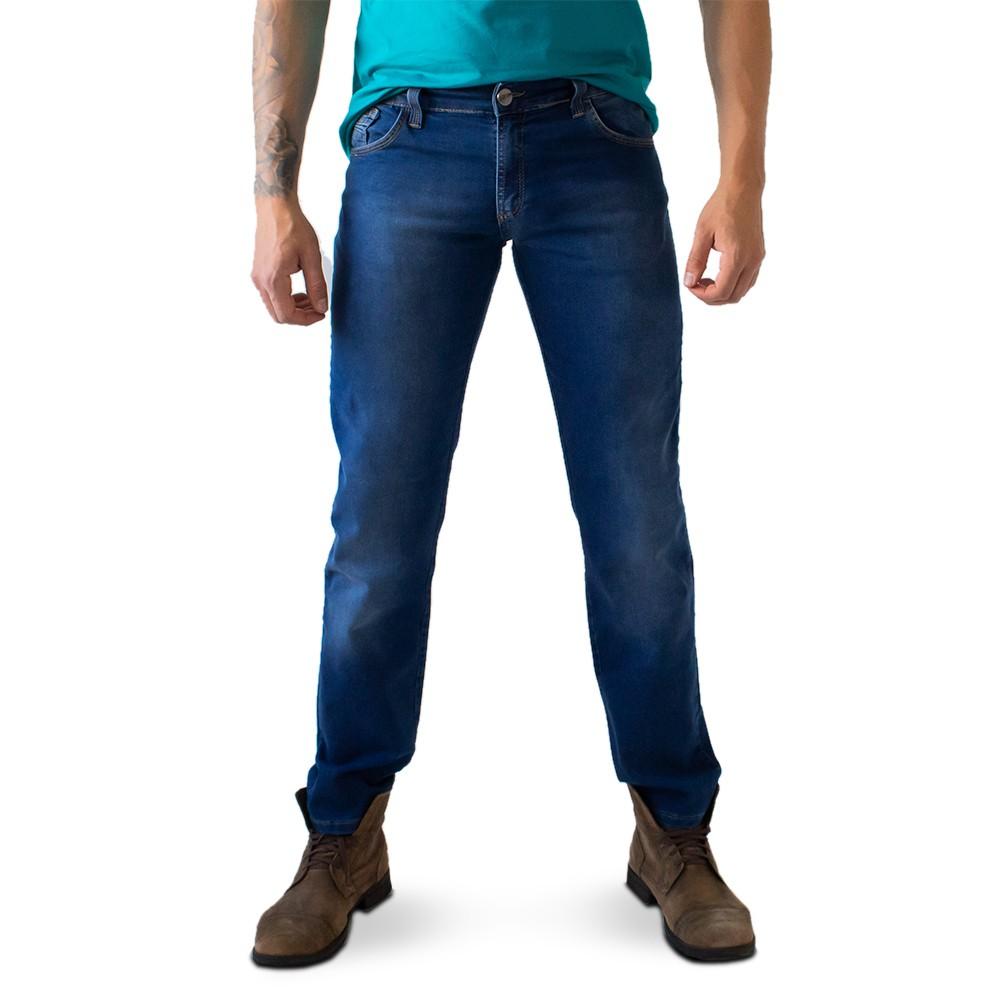Calça Masculina Jeans Azul Escuro Slim Básica Anticorpus