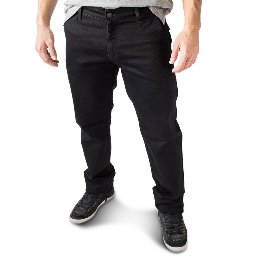 Calça Masculina Jeans Preto Clássica Elastano Anticorpus