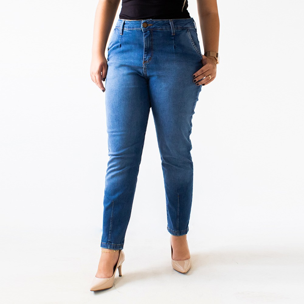 Calça Mom Feminina Jeans Cintura Alta Anticorpus