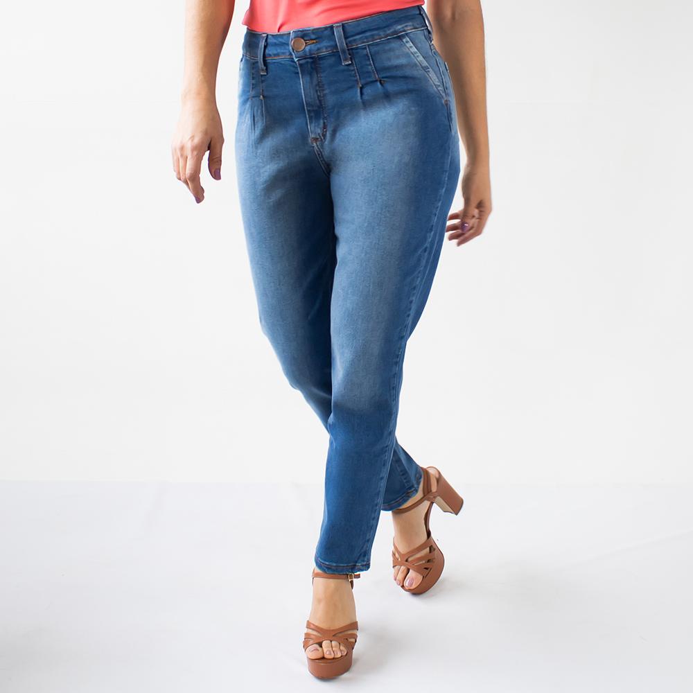 Calça Mom Jeans Feminina Básica Cintura Alta Anticorpus