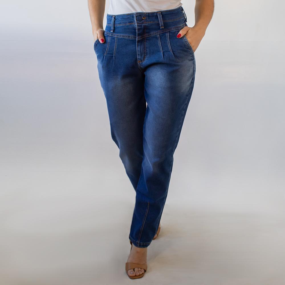 Calça Mom Jeans Feminina Detalhes Cintura Alta Anticorpus