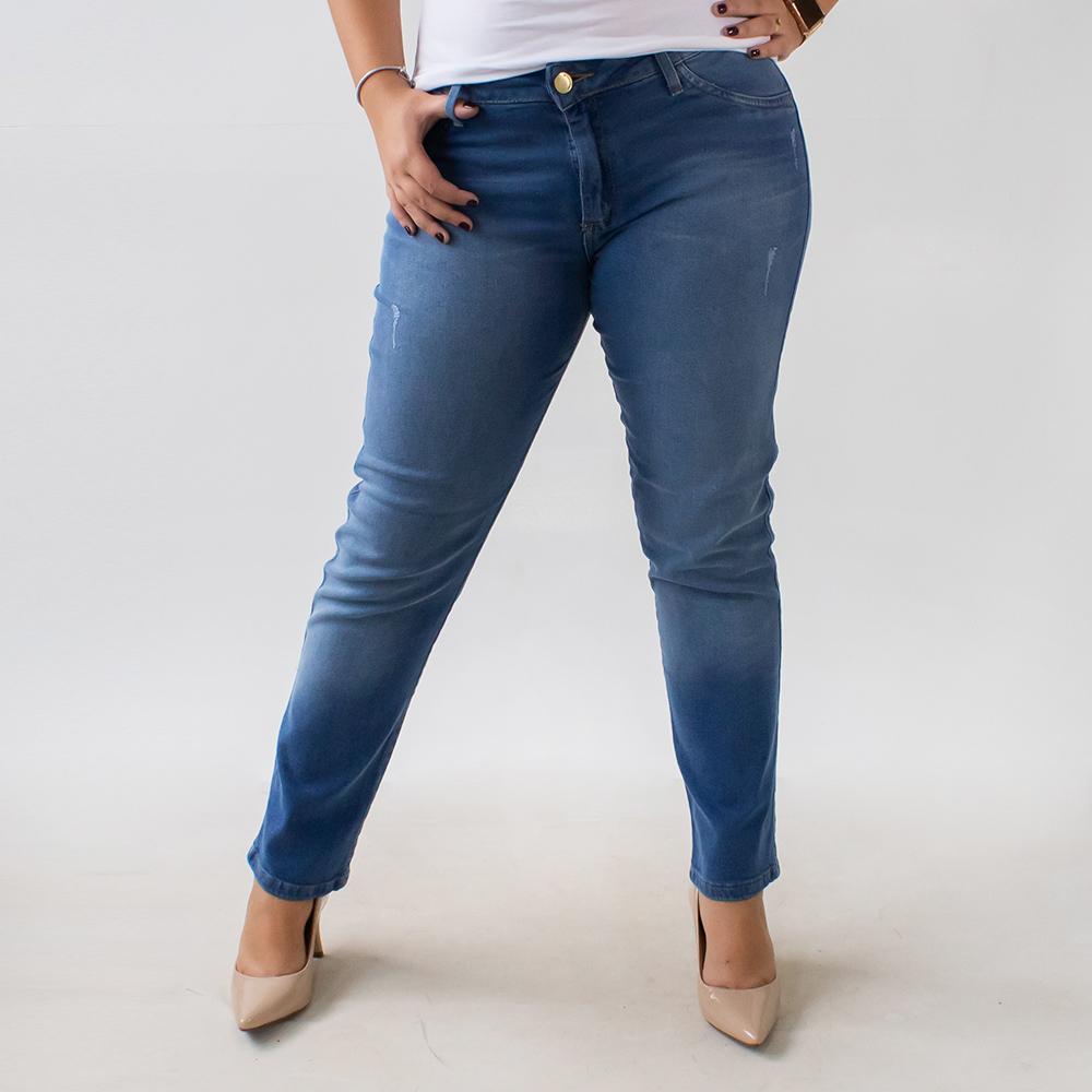 Calça Plus Size Jeans Cigarrete Feminina Anticorpus