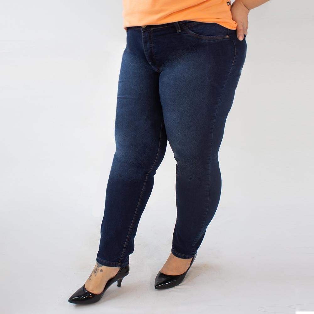 Calça Plus Size Jeans Stretch Cigarrete Feminina Anticorpus
