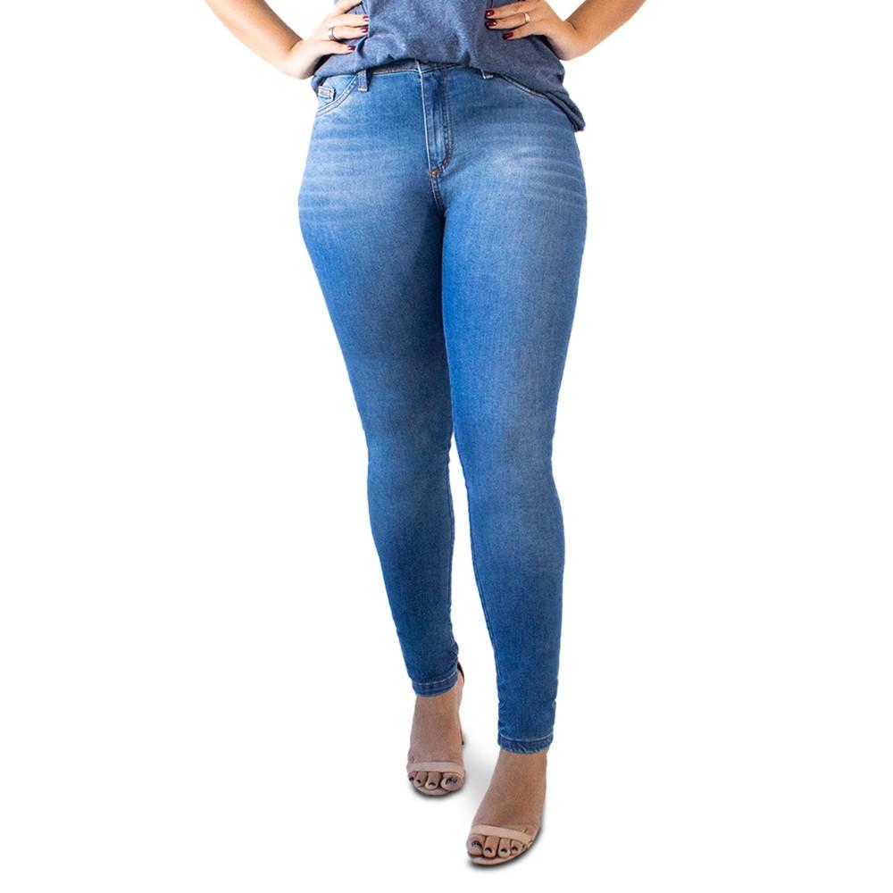 Calça Skinny Jeans Feminina Cintura Alta Anticorpus