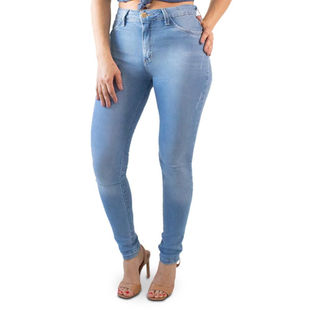 Calça Skinny Jeans Feminina Cintura Alta Clara Anticorpus